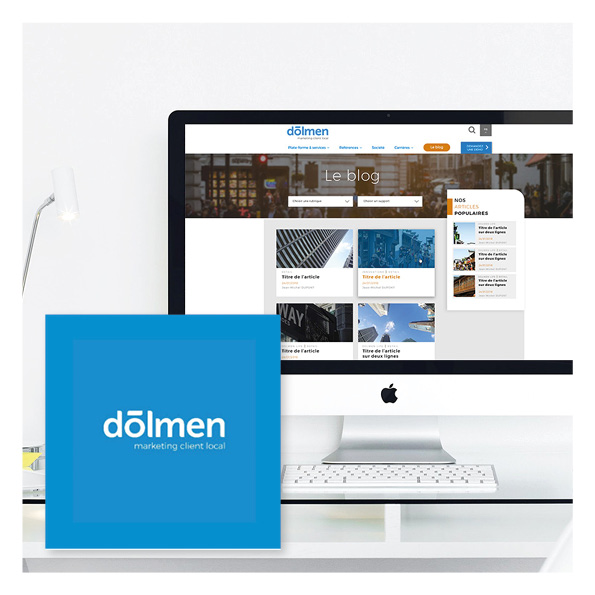 maquette web design blog dolmen