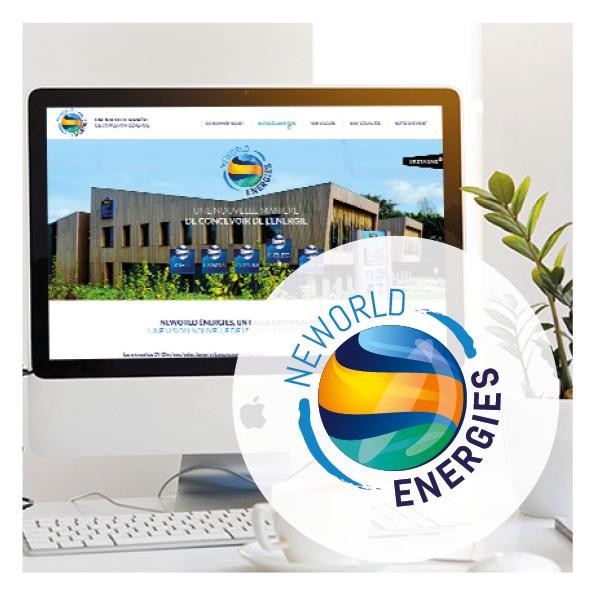 maquette web design neworld energies