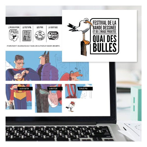 maquette web design quai des bulles